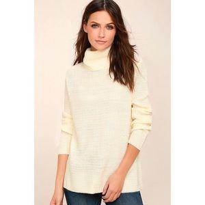 Sweet Salutation Cream Turtleneck Sweater
